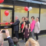 The Grand Opening with the Mayor and Christine Laidlaw