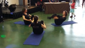 Demonstration of Pilates at the Next Demonstration Expo